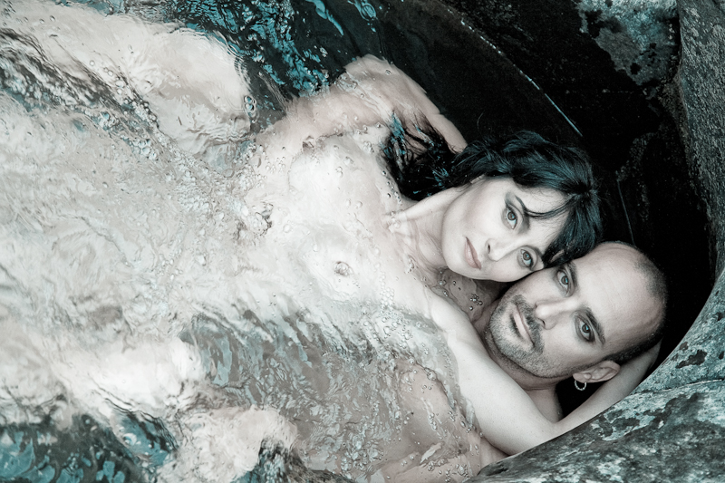 Couple Portrait in a rock pool